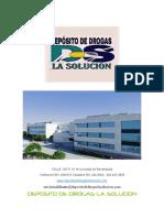 DEPOSITO DE DROGAS LA SOLUCION
