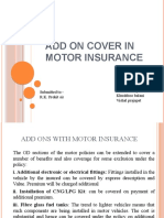 Add on cover in Motor Insurance