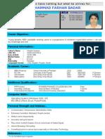 Farhan MBA Finance(Current CV)