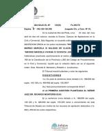 Scioscia Jose suc contra Marino Marcela sobre nulidad de clausula contractual