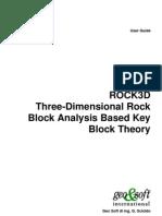 Rock 3d Software Manual