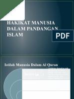 1. HAKIKAT MANUSIA DALAM PANDANGAN ISLAM