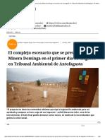El complejo escenario que se prevé para Minera Dominga en el primer día de alegatos en Tribunal Ambiental de Antofagasta - El Mostrador