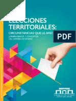 Elecciones territoriales, circunstancias que las afectan.