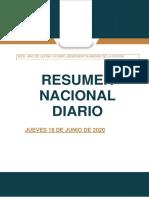 Resumen Nacional diario 18-06-2020
