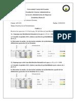 Tarea 4. Distribución Binomial