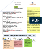 PLURALIZATION - ARTICLES - PREPOSITIONS OF TIME (THEORY)