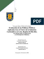 Evaluación de las Políticas Públicas Aplicadas tras el Cierre de la Industria Carbonífera en Lota, Región del Bío-Bío