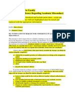 Academic Misconduct Letters -  Sample Letters of Notification to Meet and Letter of Decision