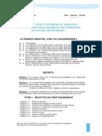 Décret n° 2010_1735_pm du 01 juin 2010 fixant la nomenclature budgétaire des CTD