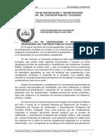 Reglamento de certificación y recertificación del contador público colegiado.