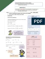 PROPOSTA de atividade de matematica