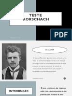 APRESENTAÇÃO -TESTE RORSCHACH