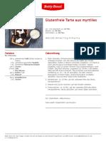 Glutenfreie Tarte Aux Myrtilles
