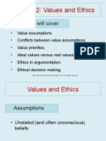 Chapter 2 values and Ethics