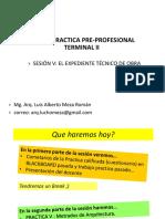 SESION 5 EXPEDIENTE DE OBRA 2020-1