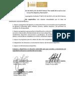 """Constancia - Proposición aditiva al PL 255 de 2019 y 221 de 2018 Cámara """"Por medio de la cual se crea la tasa Pro Deporte y Recreación""""."""