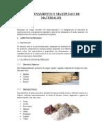 ALMACENAMIENTO Y MANIPULEO DE MATERIALES