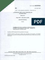 CSEC Biology January 2005 P042