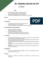 Ficha AP - Elementos do Trabalho Escrito (Bio-Construções)