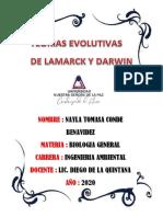 Cuales eran los principales postulados de las teorias de Lamarckc