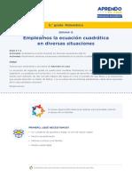 Matematica5 Semana 12 - Dia 1 Ecuacion Cuadratica Ccesa007