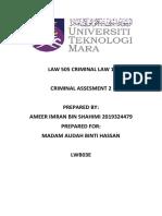 CRIMINAL Assesment 2