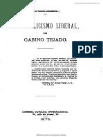El catolicismo liberal (1875) - Gabino Tejado