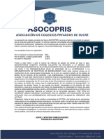 Comunicado de Asocopris-23/06/2020