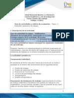 Guia de actividades y Rúbrica de evaluación - Unidad 2 - Tarea 2 - Rediseñar estaciones de trabajo