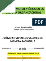 VALORES, MORAL Y ÉTICA EN LA CULTURA ORGANIZACIONAL