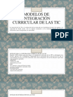 MODELOS de Integración CURRICULAR de Las Tic