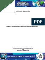 Actividad 10 Evidencia 7 Informe Prácticas de Cultura Física y Hábitos Del Cuidado Corporal