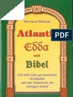 Geschichte Wieland, Hermann - Atlantis, Edda Und Die Bibel