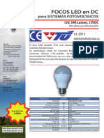 EIBS FOCO LED DC 12V y AC 110-220V 50-60Hz