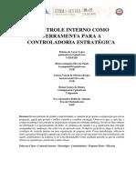 CONTROLE INTERNO COMO FERRAMENTA PARA A CONTROLADORIA
