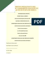 ACOMPAÑAMIENTO PEDAGÓGICO DEL SUPERVISOR Y DESEMPEÑO DOCENTE EN LAS ESCUELAS DE III ETAPA DE
