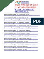 APRENDO EN CASA TVPERÚ SECUNDARIA 1 - 5 Secundaria