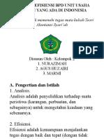 Analisis Efisiensi BPD Unit Usaha Syariah yang ada di Indonesia