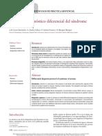 Protocolo diagnóstico diferencial del síndrome anemico