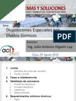 Disposiciones Especiales por Efectos Sismicos - Ing. Julio Higashi.pdf