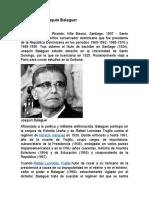 Biografía de Joaquín Balaguer