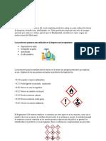 FOLLETO sobre productos de lompieza sus riesgos y sus equipos de proteccion