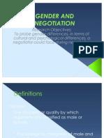Gender and Negotiation