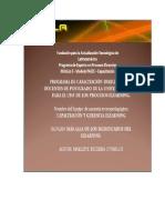 PROGRAMA DE CAPACITACIÓN DIRIGIDO A LOS DOCENTES DE POSTGRADO DE LA UNIVERSIDAD BETA  PARA EL USO  DE LOS PROCESOS ELEARNING.