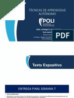 escenario 6 texto expositivo tecnicas