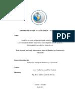 DEPARTAMENTO DE INVESTIGACIÓN Y POSTGRADOS