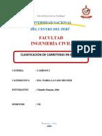 CLASIFICACION DE VIAS