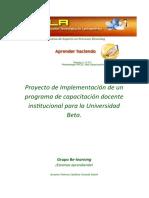Proyecto de capacitación docente institucional, fase de investigación
