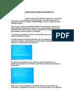Particiones de Windows Xp